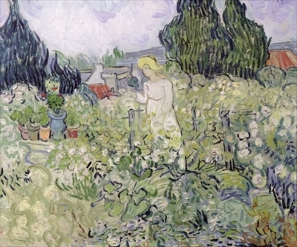 Mademoiselle Gachet in her garden at Auvers-sur-Oise, 1890 (oil on canvas) wall mural