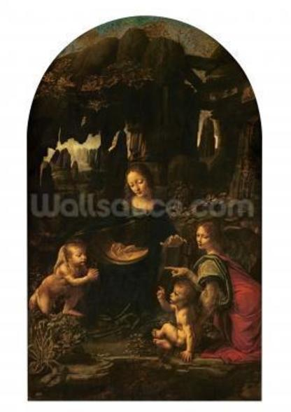 Madonna of the Rocks, c.1478 (oil on panel transferred to canvas) (also see 2038) wallpaper mural