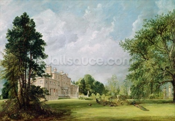 Malvern Hall, Warwickshire, 1821 (oil on canvas) wallpaper mural