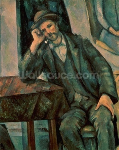 Man Smoking a Pipe, 1890-92 (oil on canvas) mural wallpaper