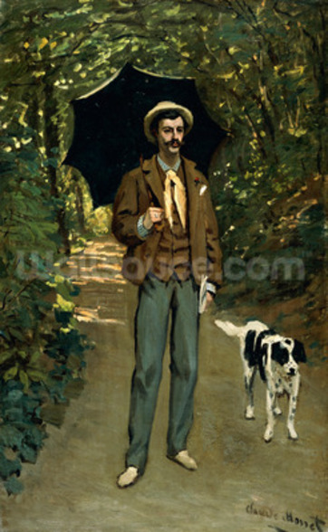 Man with an Umbrella, c.1868-69 (oil on canvas) wall mural