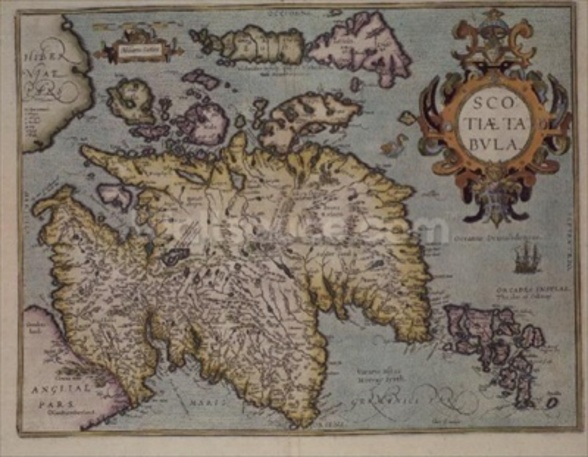 Map of Scotland, Miliaria Scotia wall mural