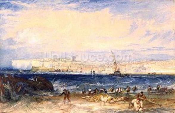 Margate, c.1822 (w/c on paper) wall mural