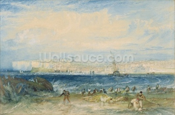 Margate, c.1822 (w/c & scraping out on wove paper) wall mural