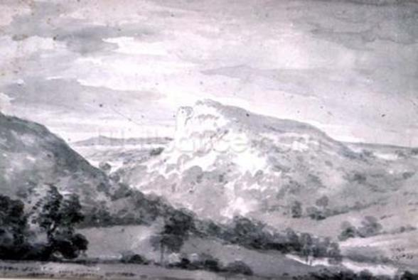 Matlock High Tor (watercolour) wall mural