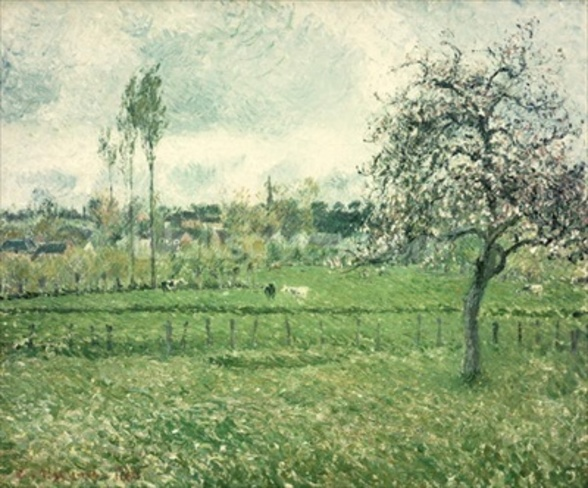 Meadow at Eragny, 1885 wall mural