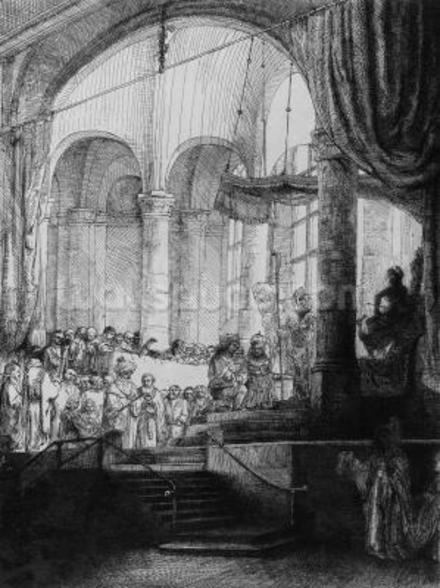 Medea, or the Marriage of Jason and Creusa, 1648 (etching & drypoint) wall mural