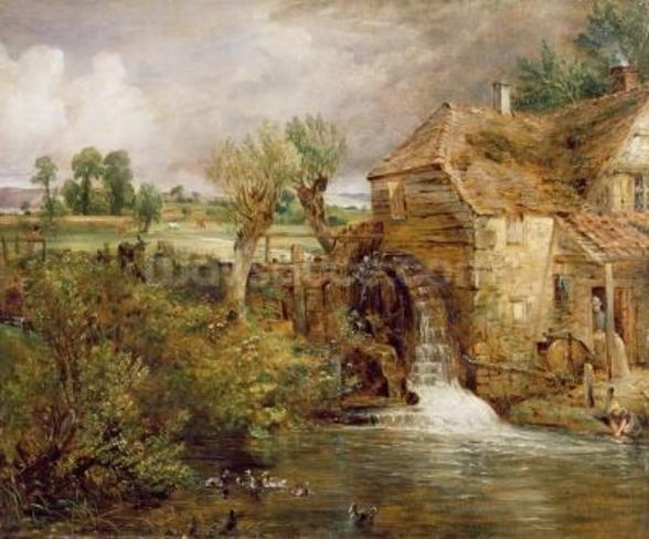 Mill at Gillingham, Dorset, 1825-26 (oil on canvas) mural wallpaper