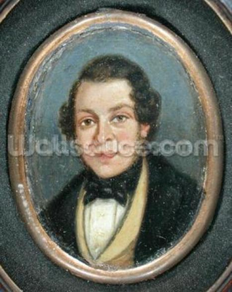 Miniature: Portrait of Abram Constable (1783-1862), brother of the artist (oil on board) mural wallpaper