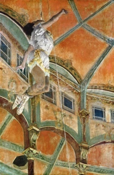 Miss La la at the Cirque Fernando, 1879 (oil on canvas) wall mural