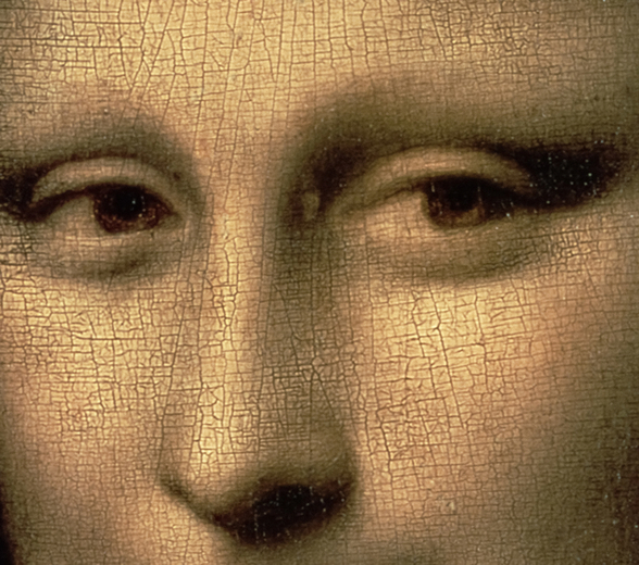Mona Lisa Eyes mural wallpaper