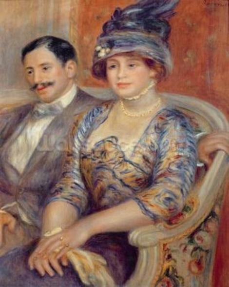 Monsieur et Madame Bernheim de Villers, 1910 (oil on canvas) wallpaper mural