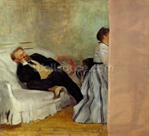 Monsieur and Madame Edouard Manet, 1868-69 (oil on canvas) mural wallpaper