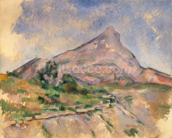 Mont Sainte-Victoire, 1897-98 (oil on canvas) wall mural
