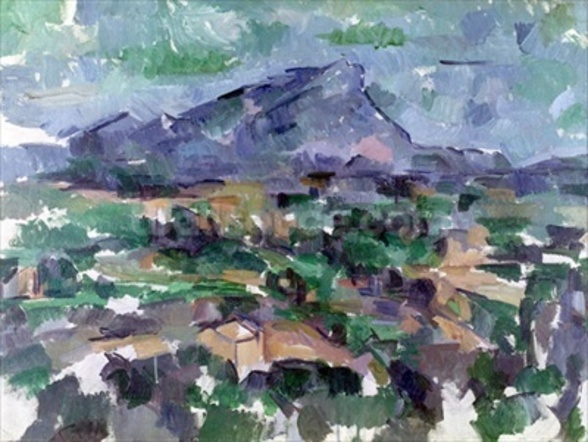 Montagne Sainte-Victoire, 1904-06 (oil on canvas) wallpaper mural