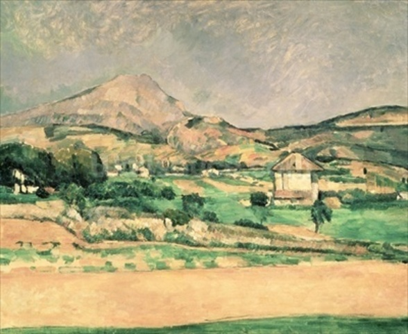 Montagne Sainte-Victoire, c.1882-85 (oil on canvas) mural wallpaper