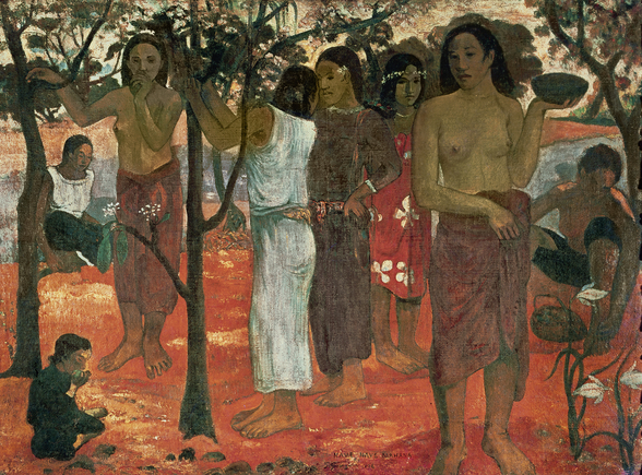 Nave Nave Mahana (Delightful Days), 1896 (oil on canvas) wall mural