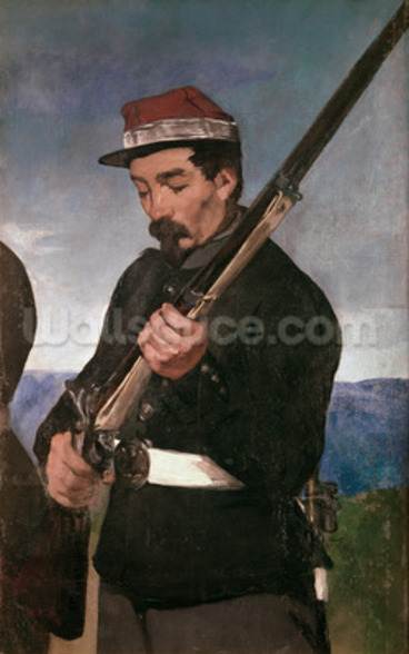 Non Commissoned Officer holding his Rifle (oil on canvas) wall mural