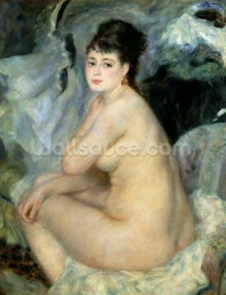 Nude, or Nude Seated on a Sofa, 1876 wall mural