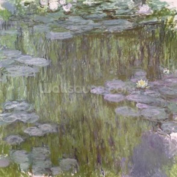 Nympheas at Giverny, 1918 (oil on canvas) wallpaper mural