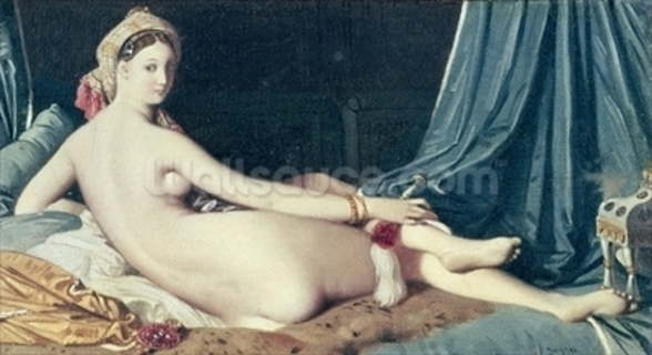 Odalisque, 1814 (oil on canvas) wall mural