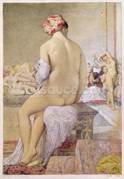 Odalisque or the Small Bather, 1864 (w/c on paper) wall mural