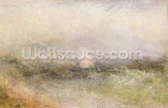 Off the Nore: Wind and Water, 1840-5 (oil on paper laid down on canvas) mural wallpaper