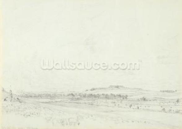 Old Sarum at Noon, 1829 (graphite on wove paper) wallpaper mural