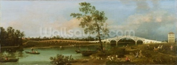 Old Waltons Bridge, 1755 (oil on canvas) wall mural