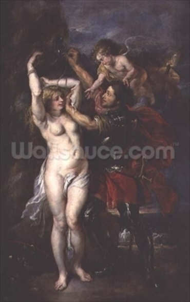 Perseus and Andromeda, 1633 (oil on canvas) mural wallpaper