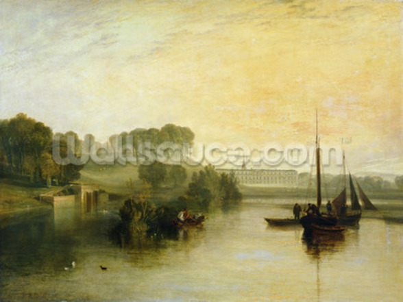 Petworth, Sussex, the Seat of the Earl of Egremont: Dewy Morning, 1810 (oil on canvas) mural wallpaper