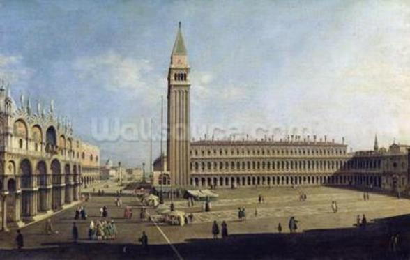 Piazza San Marco, Venice (oil on canvas) wallpaper mural