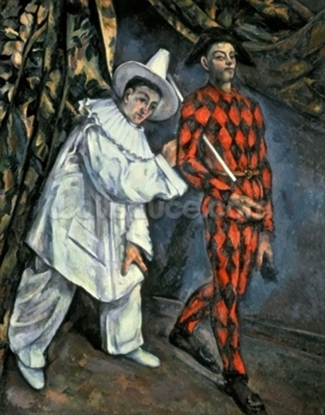 Pierrot and Harlequin (Mardi Gras), 1888 (oil on canvas) wall mural