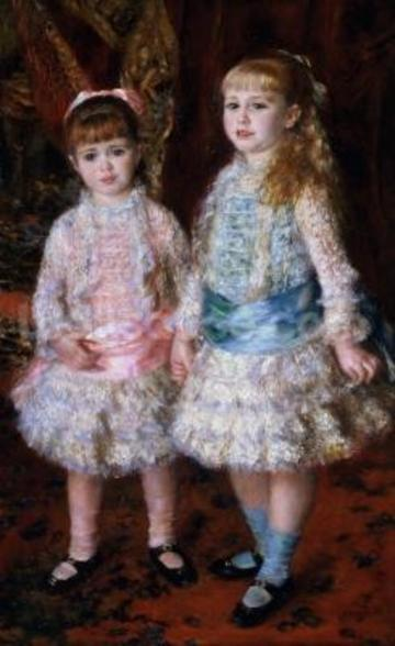 Pink and Blue or, The Cahen dAnvers Girls, 1881 (oil on canvas) wallpaper mural