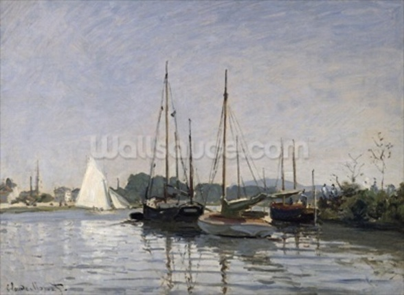 Pleasure Boats, Argenteuil, c.1872-3 (oil on canvas) mural wallpaper