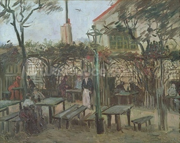 Pleasure Gardens at Montmartre, 1886 (oil on canvas) mural wallpaper