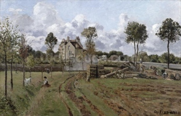 Pontoise Landscape, c.1872 (oil on canvas) mural wallpaper