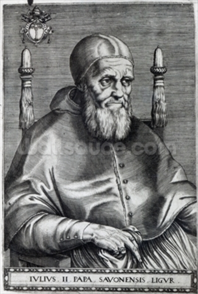 Pope Julius II (engraving) wallpaper mural