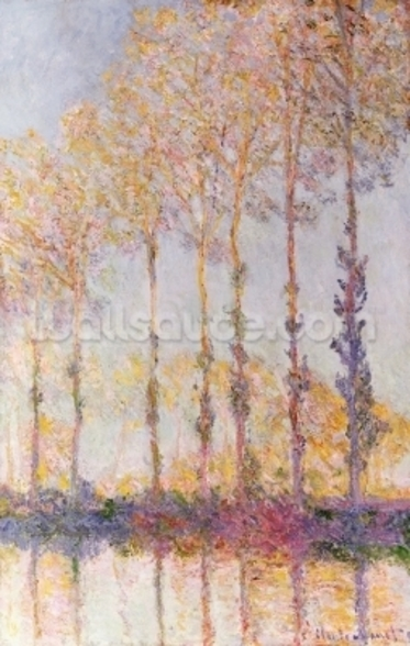 Poplars on the Banks of the Epte, 1891 (oil on canvas) mural wallpaper