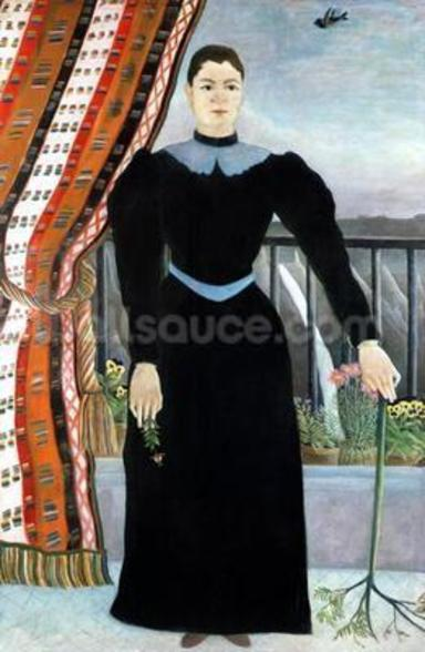 Portrait of a Woman, 1895 (oil on canvas) wall mural