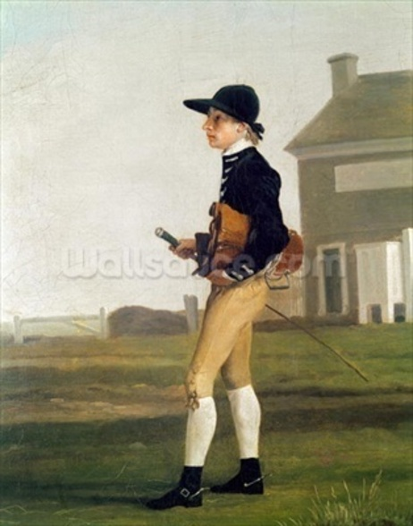 Portrait of a Young Jockey (oil on canvas) mural wallpaper