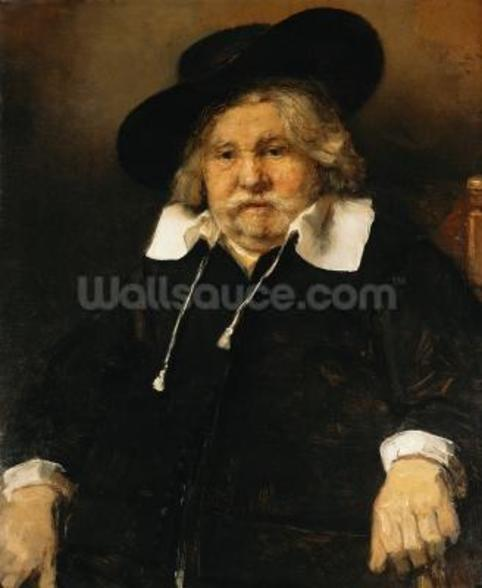 Portrait of an old man, 1667 (oil on canvas) wallpaper mural