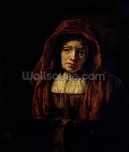 Portrait of an Old Woman wall mural