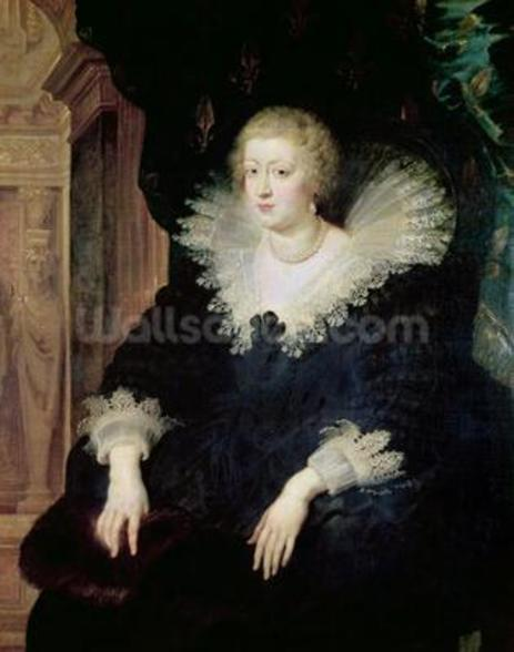 Portrait of Anne of Austria (1601-66) c.1622 (oil on canvas) wall mural