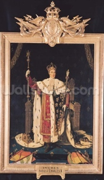 Portrait of Charles X (1757-1836) in Coronation Robes, 1829 (oil on canvas) wall mural