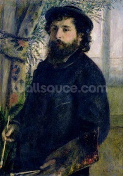 Portrait of Claude Monet (1840-1926) 1875 (oil on canvas) wall mural