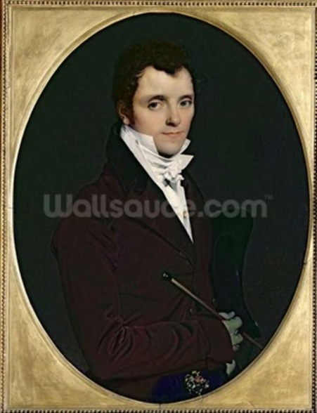 Portrait of Edme Bochet (1783-1871), 1811 (oil on canvas) wall mural