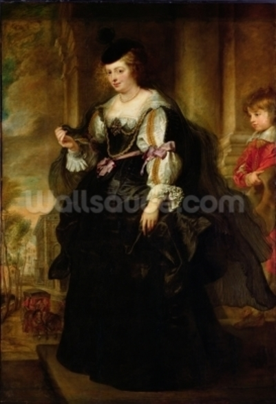 Portrait of Helene Fourment with a Coach, c.1639 (oil on panel) wall mural