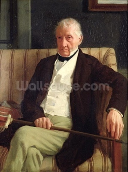 Portrait of Hilaire Degas (1770-1858), grandfather of the artist, 1857 (oil on canvas) wall mural