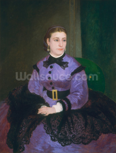 Portrait of Mademoiselle Sicot, 1865 (oil on canvas) wall mural